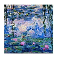 Monet - Water Lilies, 1919 Tile Coaster
