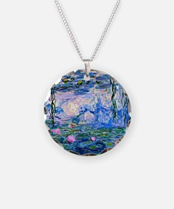 Monet - Water Lilies, 1919 Necklace