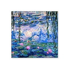 "Monet - Water Lilies, 1919 Square Sticker 3"" x 3"""