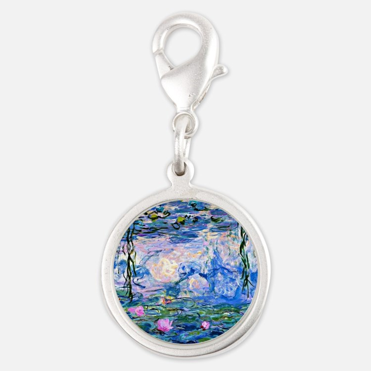 Monet - Water Lilies, 1919 Silver Round Charm
