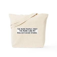 English Cocker Spaniel: peopl Tote Bag