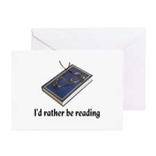 I'd rather be reading Greeting Cards (Pk of 10