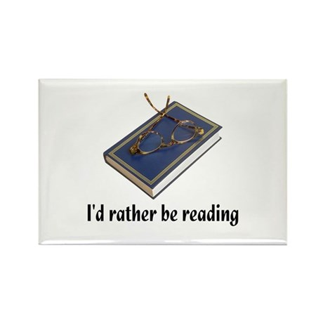 I'd rather be reading Rectangle Magnet (10 pack)