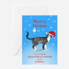 For granddaughter and family, Meowwy Christmas cat