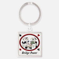 Bridge Power Square Keychain