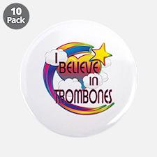 "I Believe In Trombones Cute Believer Design 3.5"" B"