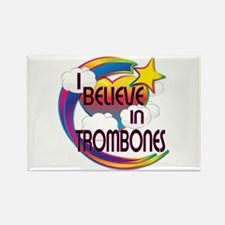 I Believe In Trombones Cute Believer Design Rectan