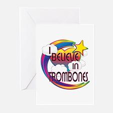 I Believe In Trombones Cute Believer Design Greeti