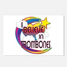 I Believe In Trombones Cute Believer Design Postca