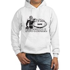Personalized Football Player Hoodie Sweatshirt