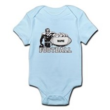 Personalized Football Player Infant Bodysuit