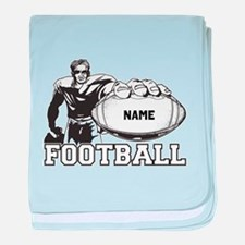 Personalized Football Player baby blanket