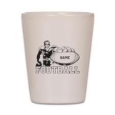 Personalized Football Player Shot Glass