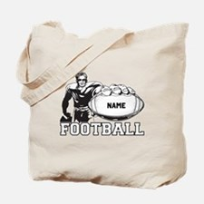 Personalized Football Player Tote Bag