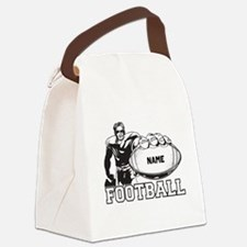 Personalized Football Player Canvas Lunch Bag
