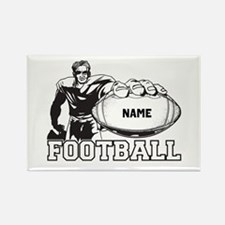 Personalized Football Player Rectangle Magnet
