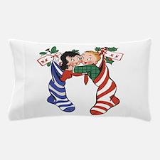 Vintage Christmas Stockings Pillow Case