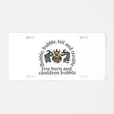 Witch Cauldron Halloween Aluminum License Plate