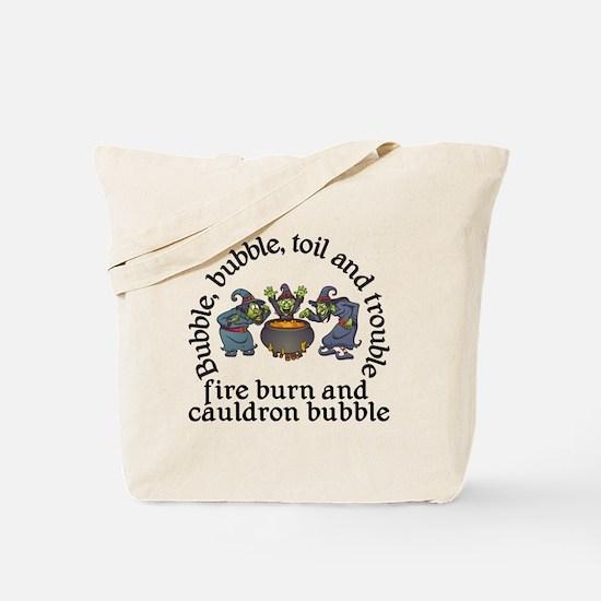 Witch Cauldron Halloween Tote Bag