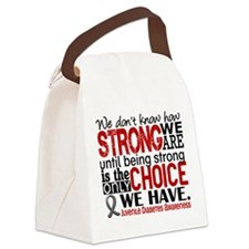 How Strong We Are Juv Diabetes Canvas Lunch Bag
