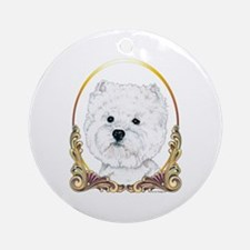 Westie Christmas/Holiday Ornament (Round)