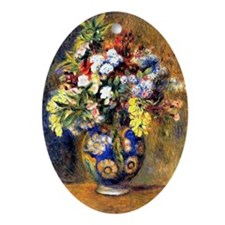 Renoir: Flowers in a Vase Oval Ornament