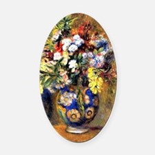 Renoir: Flowers in a Vase Oval Car Magnet