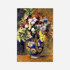 Renoir: Flowers in a Vase Rectangle Magnet
