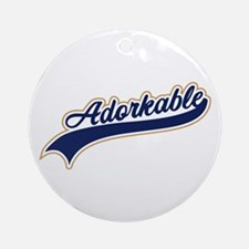 Adorkable Humor Ornament (Round)