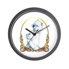 West Highland White Terrier Gold Wall Clock