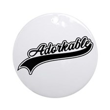 Funny Adorkable Ornament (Round)