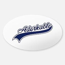 Adorkable Sticker (Oval)