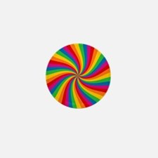 Rainbow Twist Stripes Mini Button