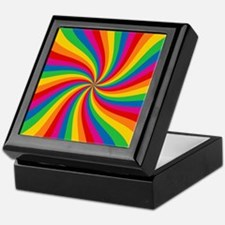 Rainbow Twist Stripes Keepsake Box