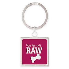 My Dog Eats Raw Keychains