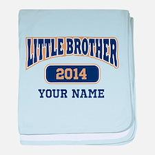 Custom Little Brother baby blanket