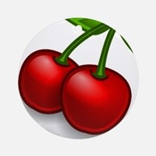 Two Cherries Ornament (Round)