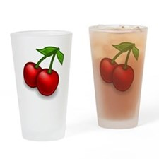 Two Cherries Drinking Glass