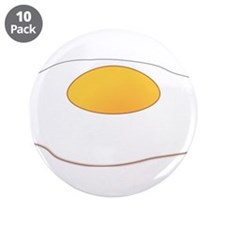 """Fried Egg 3.5"""" Button (10 pack)"""