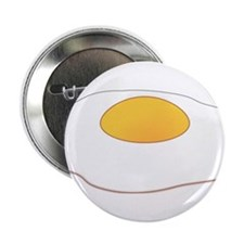 "Fried Egg 2.25"" Button"