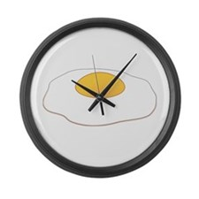 Fried Egg Large Wall Clock