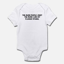 Clumber Spaniel: people I mee Infant Bodysuit