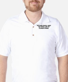 Clumber Spaniel: people I mee Golf Shirt