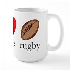 Peace Love Rugby Mug