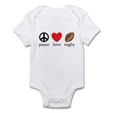 Peace Love Rugby Infant Bodysuit