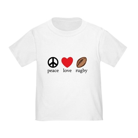 Peace Love Rugby Toddler T-Shirt