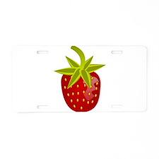 Strawberry Aluminum License Plate