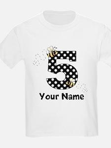 5th Birthday Bumble Bee T-Shirt
