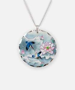 Birds and Floral Necklace
