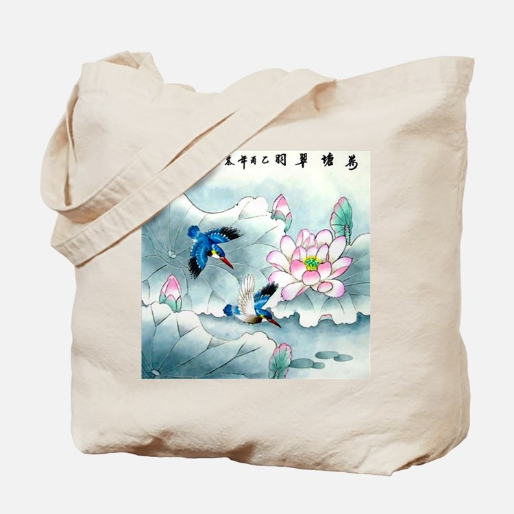 Birds and Floral Tote Bag